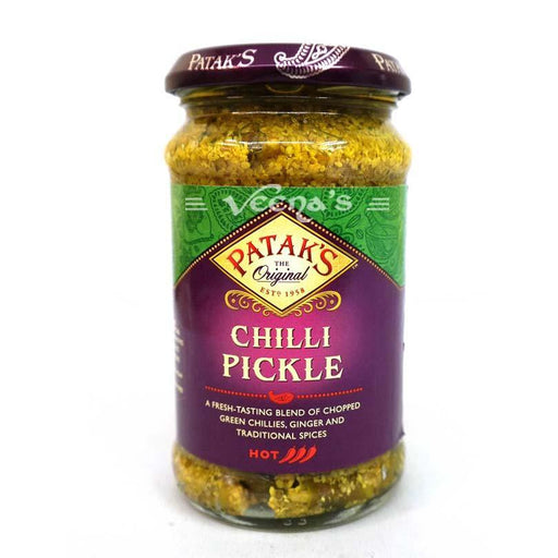 Pataks Chilli Hot Pickle 283g - veenas.com