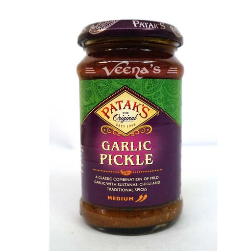 Pataks Garlic Pickle 300g - veenas.com