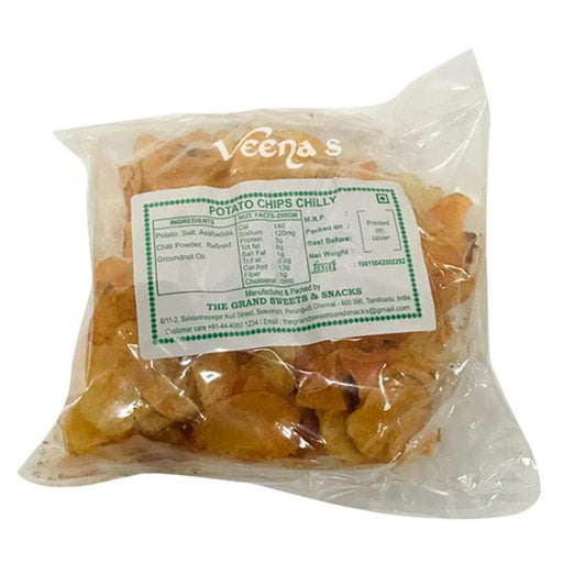 The Grand Sweets Potato Chips Chilly 150G - veenas.com