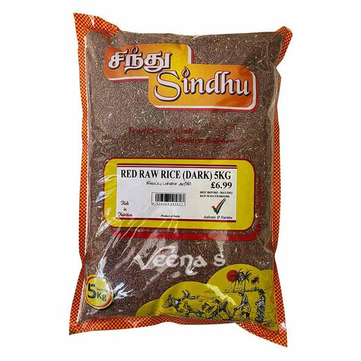 Sindhu Red Raw Rice Dark 5KG - veenas.com