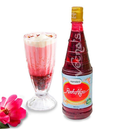 Rooh Afza Rose Syrup 800ML - veenas.com
