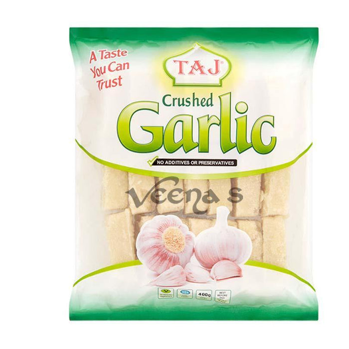 Taj Crushed Garlic 400gm - veenas.com