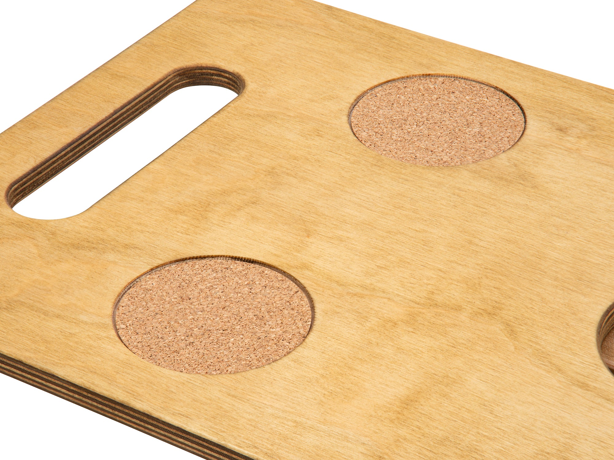 Non slip cork pads Goulburn portable beach table top in naturally sunkissed color