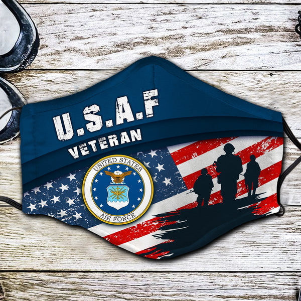 US Air Force Veteran Fabric Face Mask