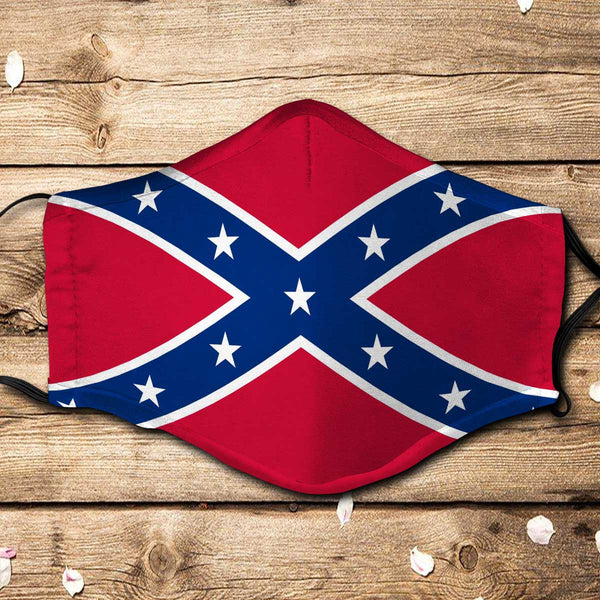 Confederate Flag Fabric Face Mask