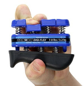 Digiflex blue middle finger pinch