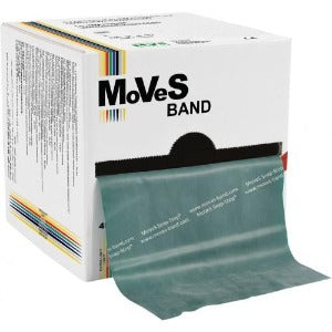 Moves band latex exercise band Green 50 yards roll