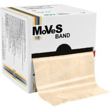 Load image into Gallery viewer, Moves band latex exercise band Tan 50 yards roll