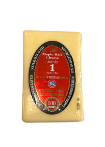 Cheddar Cheese Aged 1 Year - Maple Dale