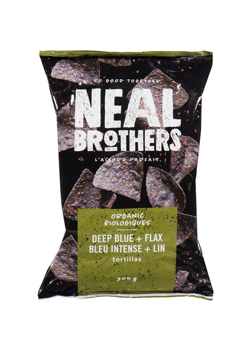Blue Corn Tortilla Chips with Flax - Organic