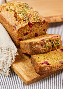 Pumpkin Cranberry Ginger Loaf
