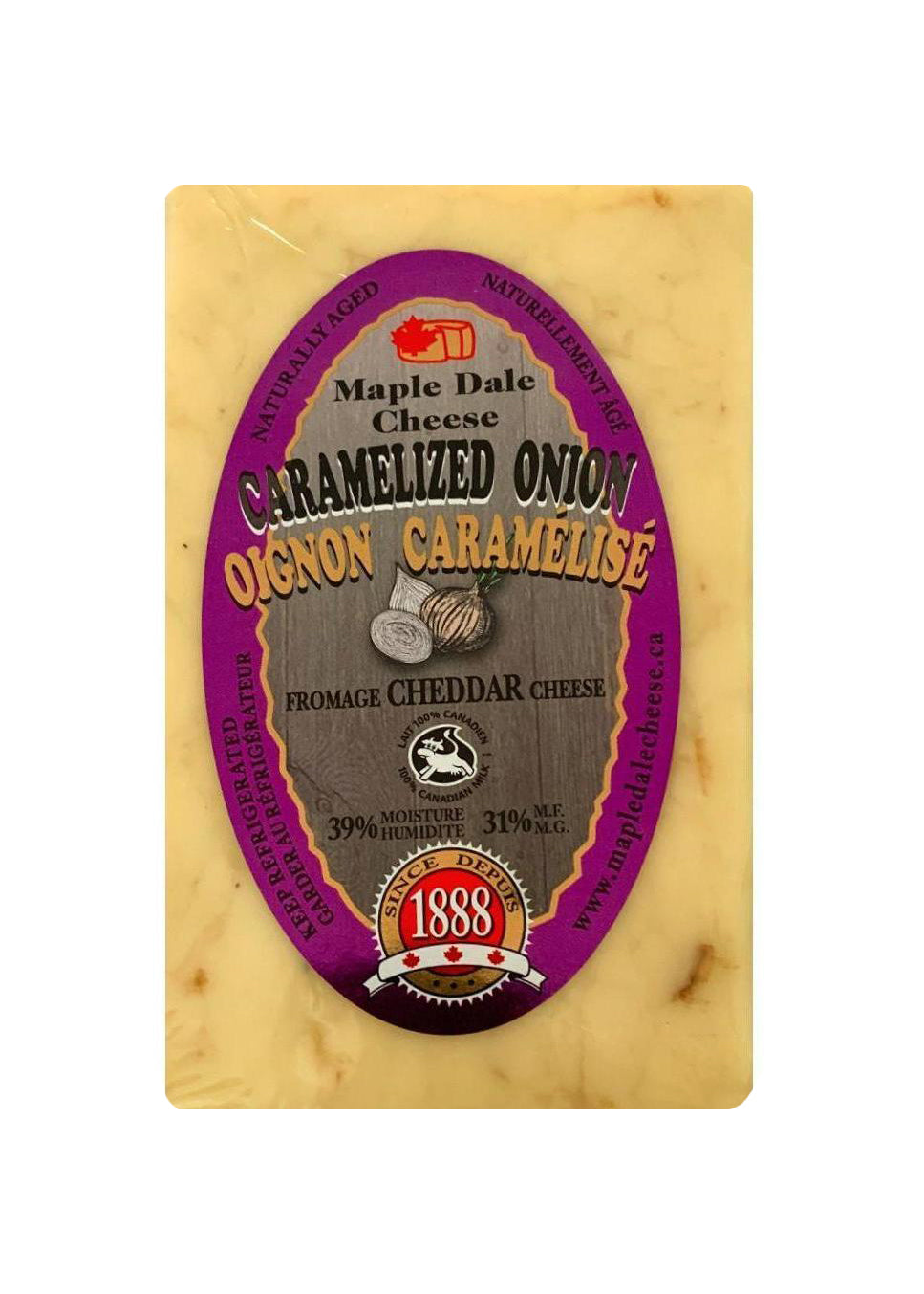 Caramelized Onion Cheddar Cheese - Maple Dale
