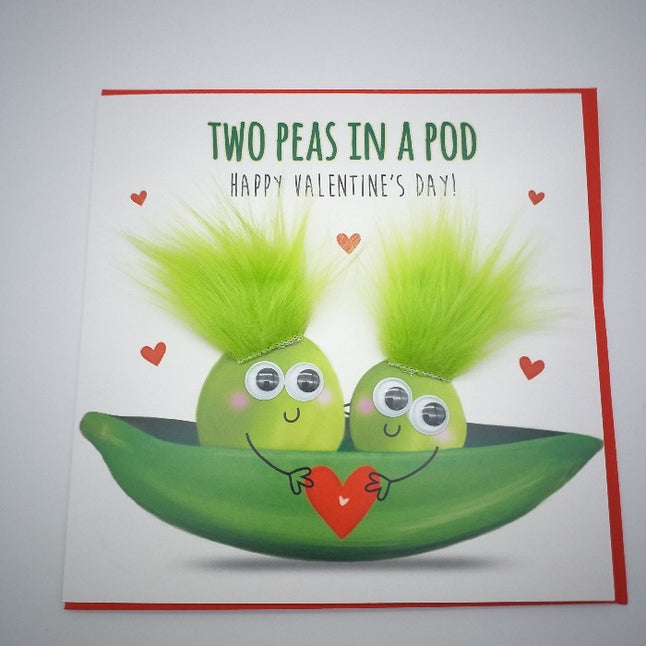 Valentines Card - Two Peas in a Pod