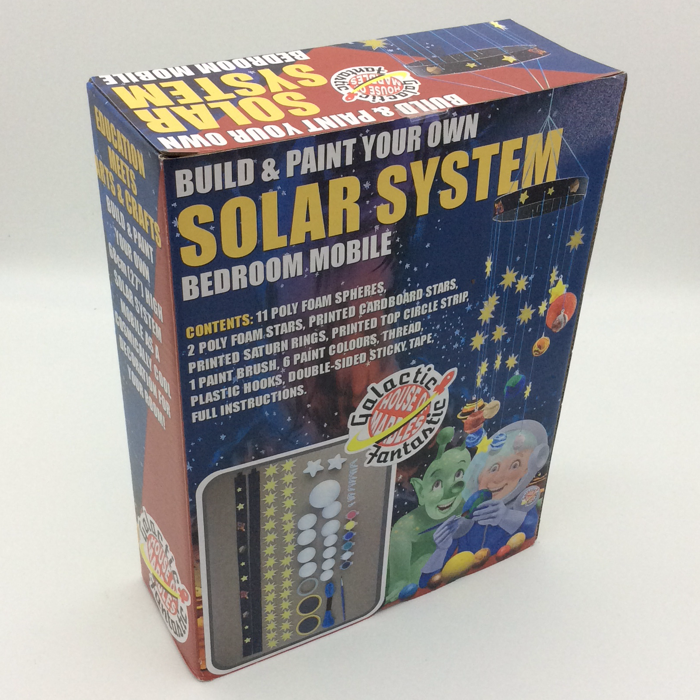 Build and paint your own Solar System Mobile