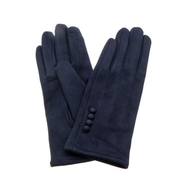 Faux suede soft gloves