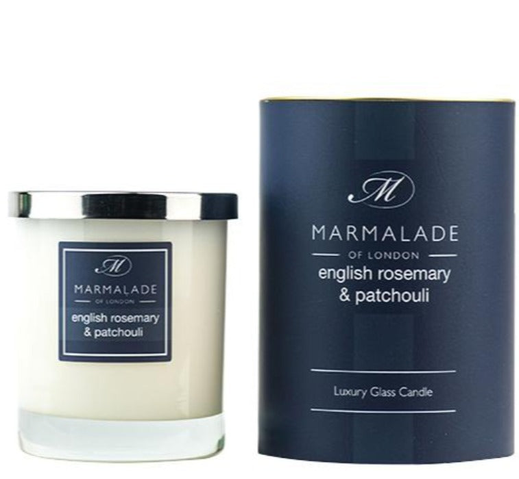 Marmalade English Rosemary & Patchouli Large Glass Candle