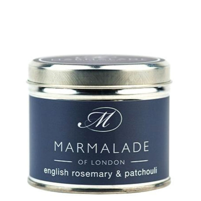 Marmalade English Rosemary & Patchouli Tin Candle