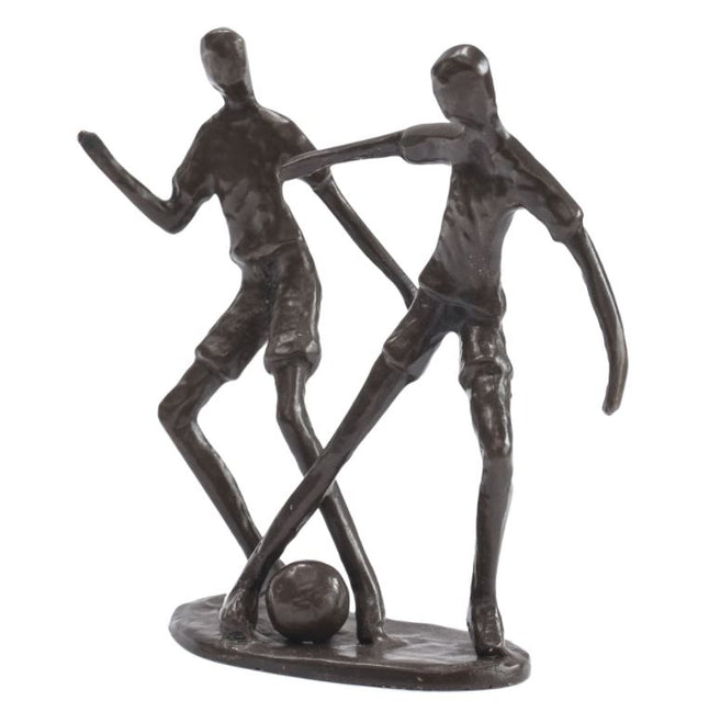Two Footballers sculpture