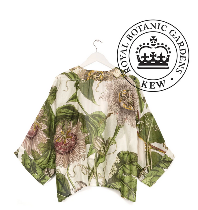 One Hundred Stars Kimono - Passion Flower Ivory