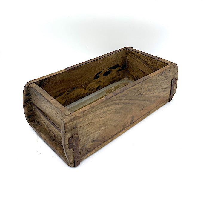 Solid oak vintage brick mould single
