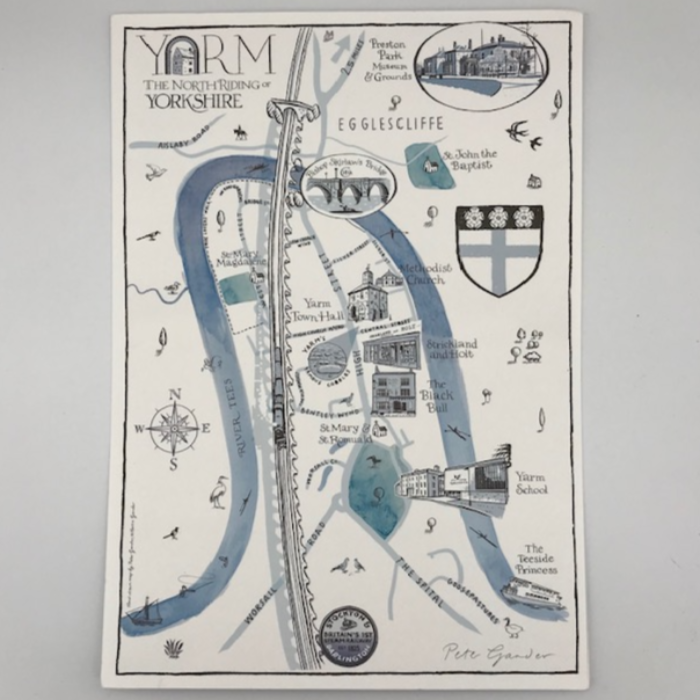 Yarm Illustrated Map Print
