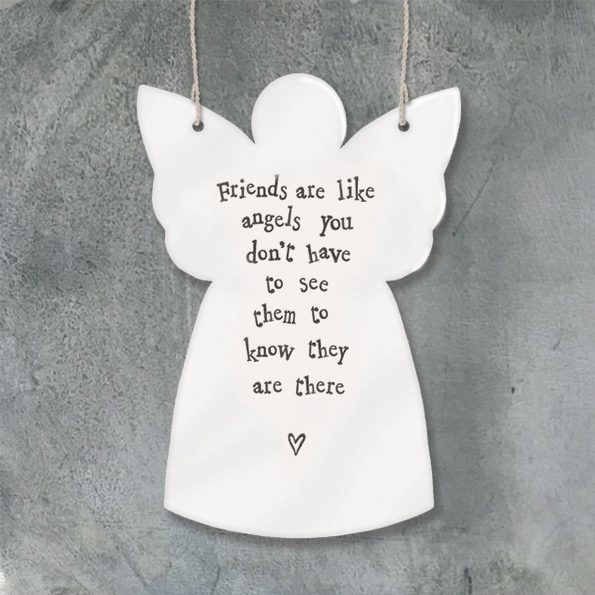 "East of India ""Friends are like angels"" Porcelain Angel"