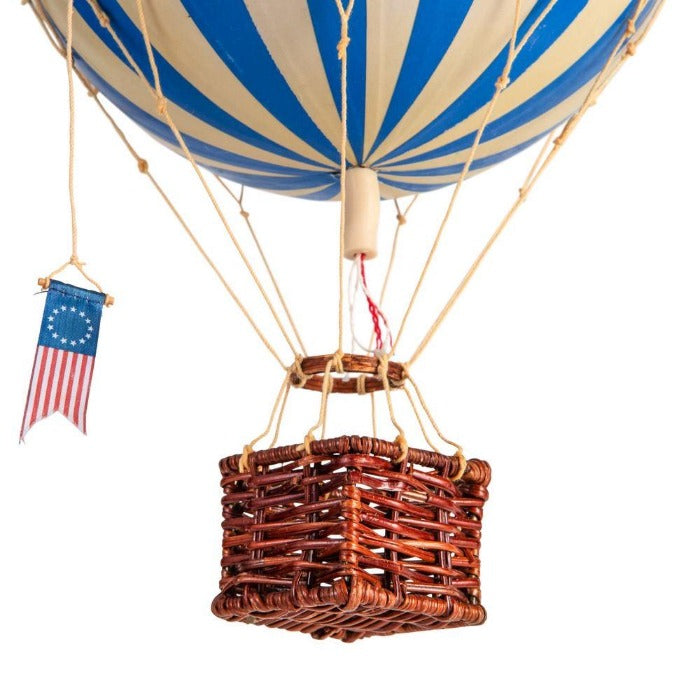 'Travels Light' Blue Hot air balloon