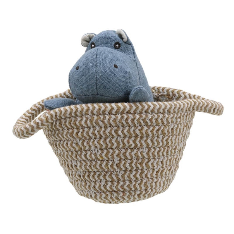 Hippo - Wilberry Pets in Baskets