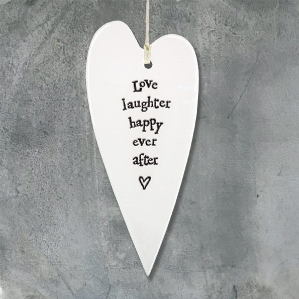 "East of India ""Love, laughter"" heart"