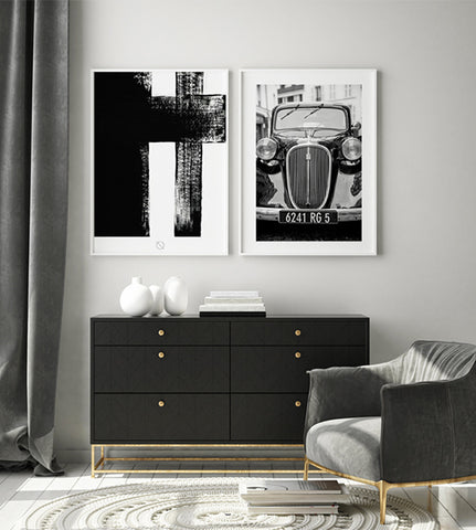 Tavelvägg & Posters - Classy Black | Poster Space