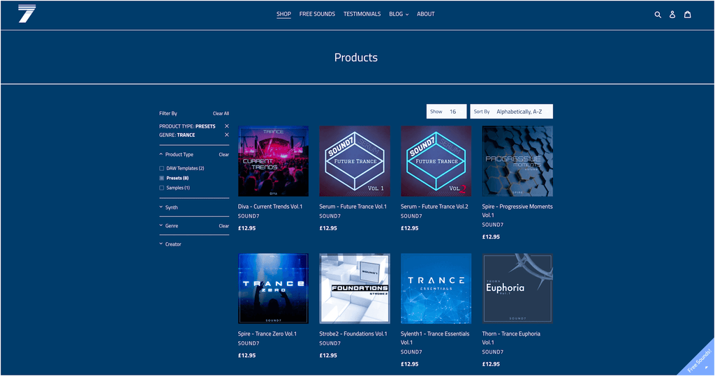 SOUND7 Trance Presets and Trance Sample Packs