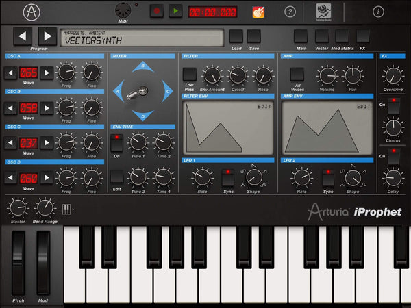Arturia iprophet synth for iPad