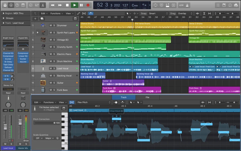 Logic Pro track production screenshot