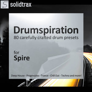 spire drum presets trance techno and chill out transform Spire into a fully fledged drum machine! Featuring deep and smooth kicks, claps with character, snappy snares and more this sound bank is made for Reveal Sound Spire and ReSpire and contains 80 carefully crafted drum presets