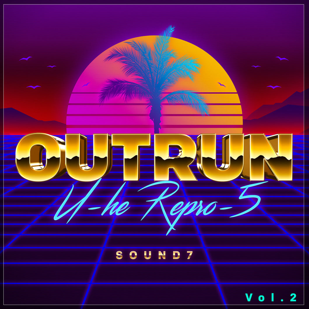 u-he repro-5 outrun and synthwave presets providing A Big emphasis on future trends of Synthwave, Outrun, Vaporwave and Retro Sounds. A fusion of Retro with Neo with Big Vangelis styled pads sweeping from down from the high pass or sweeping up from the depths including in theme use of unusual and undocumented modulation parameters.