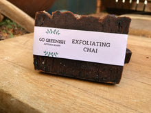 Load image into Gallery viewer, exfoliating chai artisan soap. natural vegan cruelty free