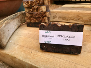 exfoliating chai artisan soap. natural vegan cruelty free