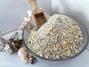 bath salt scoop. Lavender bath salt