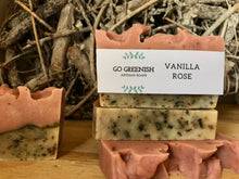 Load image into Gallery viewer, artisan soap. natural bath and body products. vanilla rose soap