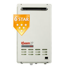Rheem 27L 6 Star - Continuous Flow Gas Water Heater