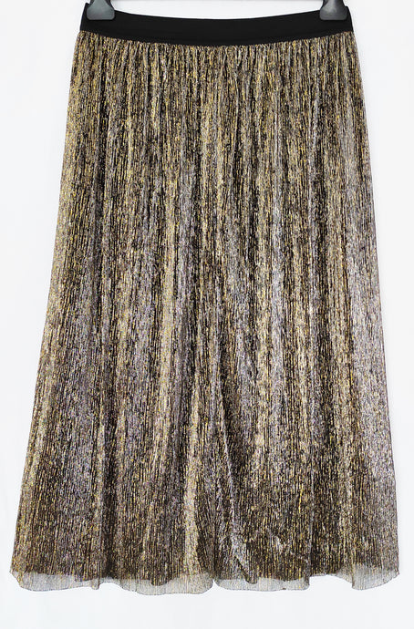 Gonna midi chic oro metallizzato - L - maimesso