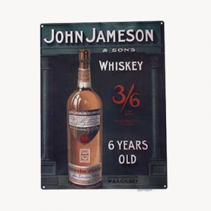 John Jameson Whiskey Metal Sign