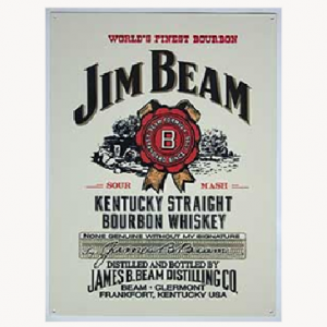Jim Beam Metal Sign