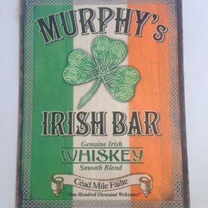 Murphys Irish Bar Metal Sign