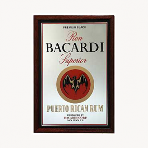 Bacardi Small Mirror