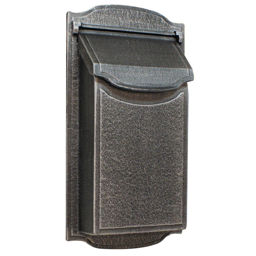 modern swedish silver vertical non-locking wall mount mailbox
