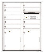 Load image into Gallery viewer, 4C RECESSED MOUNT versatile™ 4CADS-04 (4 Mailboxes and 1 Parcel Locker)