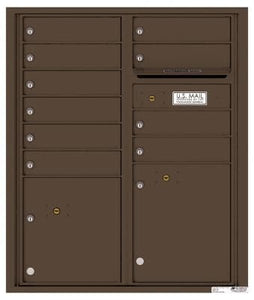4C Recessed Mount Versatile 4CADD-09/ADA Max. (9 mail compartment and 2 parcel lockers)