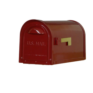 Special lite mid-century wine dylan mailbox with side flag