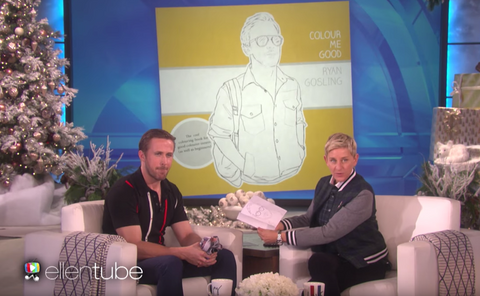 Ryan and Ellen chat 'Colour Me Good Ryan Gosling'